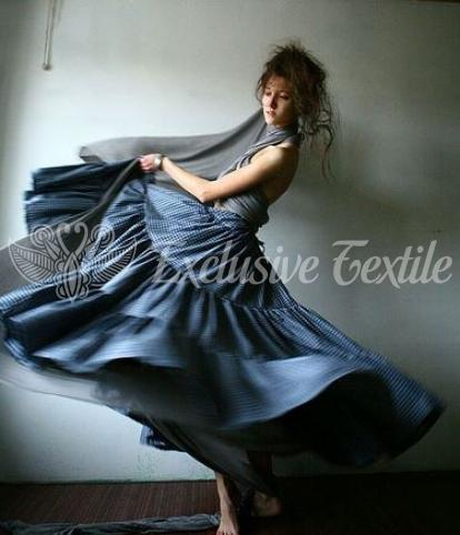 Дизайнерская длинная юбка из хлопка UNM05Одежда Юбки