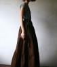 Дизайнерская длинная юбка из хлопка UNM02Одежда Юбки