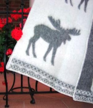 Шерстяной плед покрывало из овечьей шерсти PWE07 Аксессуары для дома