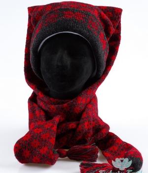 Комплект шапка-шарф трансформер WWLC16Аксессуары Шапки