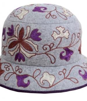 Шляпа женская из войлока с вышивкой TWSHV02Аксессуары Шляпы