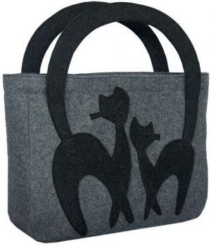Дизайнерская сумка из войлока ручной работы XVB03Аксессуары Сумки